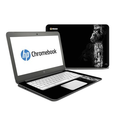 HP Chromebook 14 Skin - White Tiger