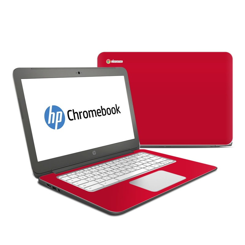 Hp Chromebook 14 Skin Solid State Red By Solid Colors