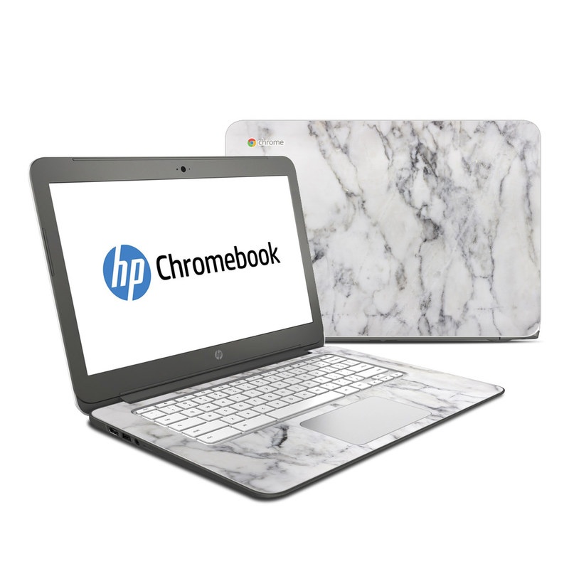 Hp Chromebook 14 Skin White Marble By Marble Collection
