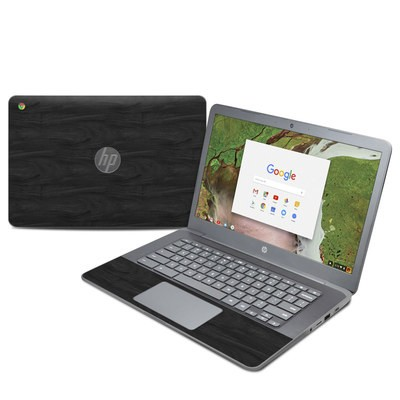 HP Chromebook 14 G5 Skin - Black Woodgrain