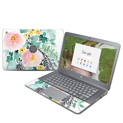 HP Chromebook 14 G5 Skin - Blushed Flowers