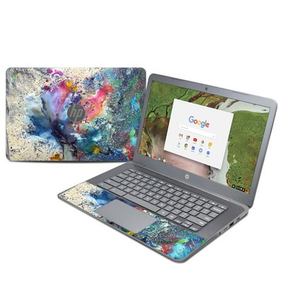 HP Chromebook 14 G5 Skin - Cosmic Flower