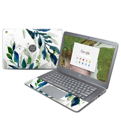 HP Chromebook 14 G5 Skin - Floating Leaves