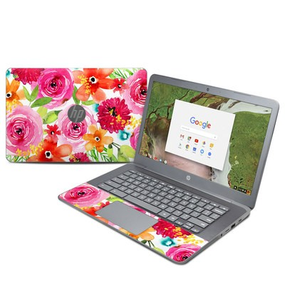 HP Chromebook 14 G5 Skin - Floral Pop