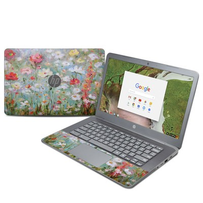 HP Chromebook 14 G5 Skin - Flower Blooms
