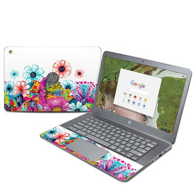 HP Chromebook 14 G5 Skin - Intense Flowers