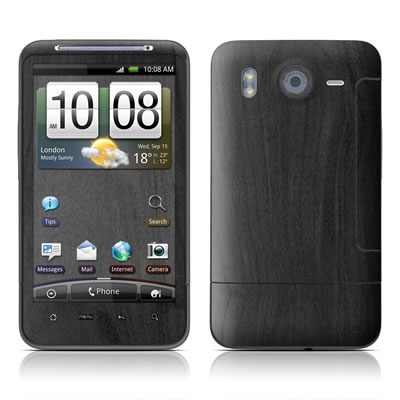 HTC Desire HD Skin - Black Woodgrain