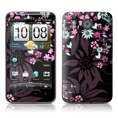 HTC Desire HD Skin - Dark Flowers