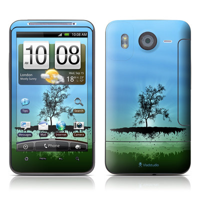 HTC Desire HD Skin - Flying Tree Blue