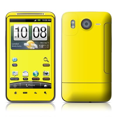 HTC Desire HD Skin - Solid State Yellow