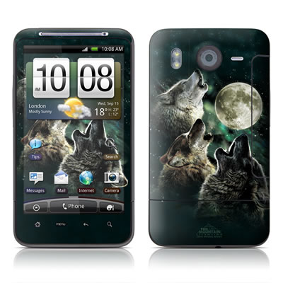 HTC Desire HD Skin - Three Wolf Moon