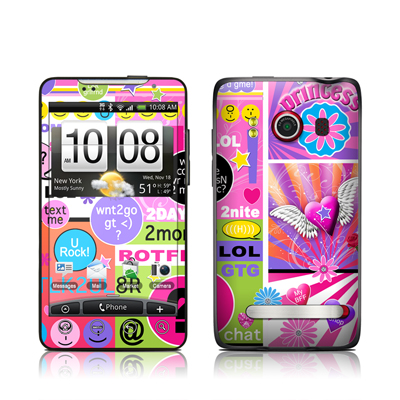 HTC Evo Skin - BFF Girl Talk