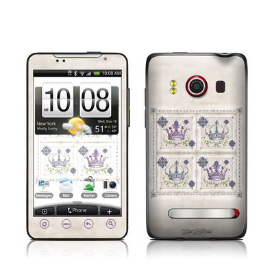 HTC Evo Skin - Purple Crown