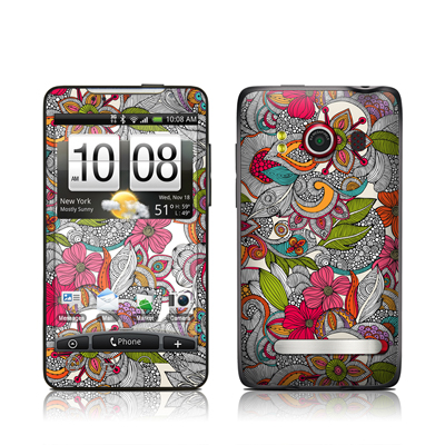 HTC Evo Skin - Doodles Color