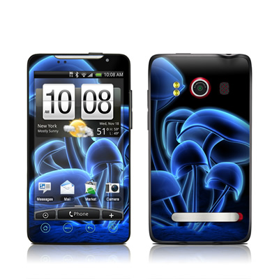 HTC Evo Skin - Fluorescence Blue