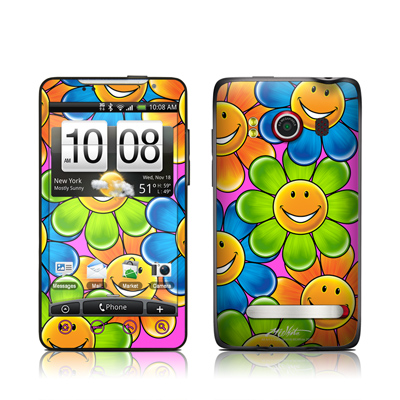 HTC Evo Skin - Happy Daisies