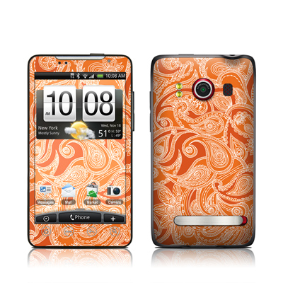 HTC Evo Skin - Paisley In Orange