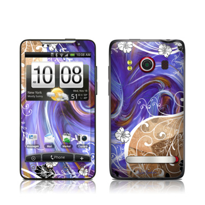 HTC Evo Skin - Purple Waves