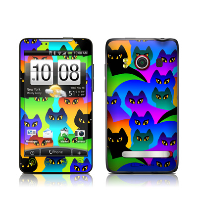 HTC Evo Skin - Rainbow Cats