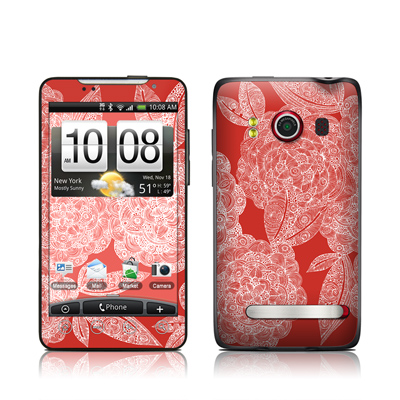 HTC Evo Skin - Red Dahlias
