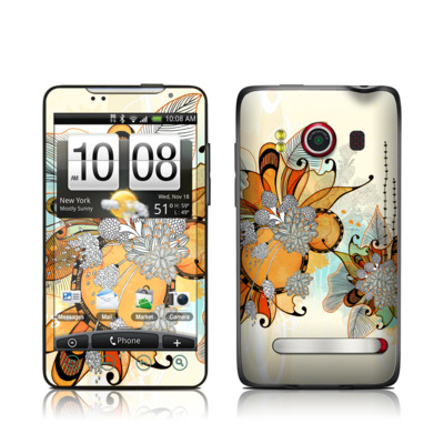 HTC Evo Skin - Sunset Flowers