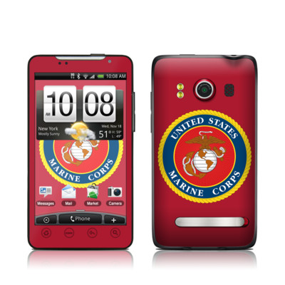HTC Evo Skin - USMC Red
