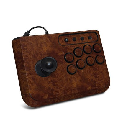 HORI Fighting Stick Mini 4 Skin - Dark Burlwood