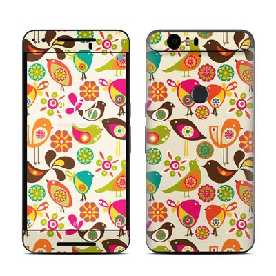 Huawei Nexus 6P Skin - Bird Flowers