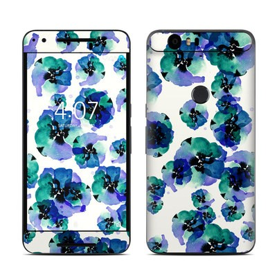 Huawei Nexus 6P Skin - Blue Eye Flowers
