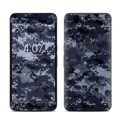 Huawei Nexus 6P Skin - Digital Navy Camo