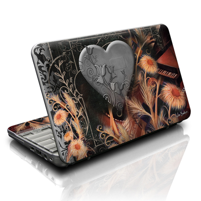 HP Mini Skin - Black Lace Flower