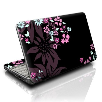 HP Mini Skin - Dark Flowers
