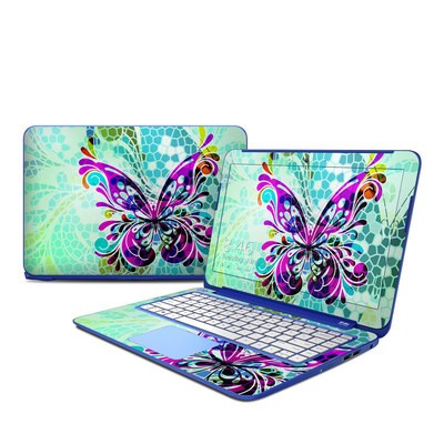 HP Stream 13in Skin - Butterfly Glass