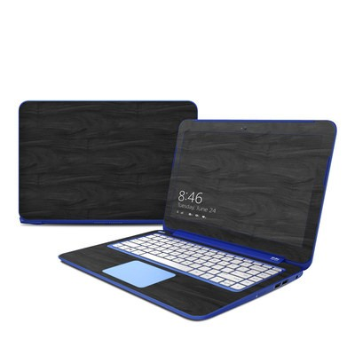 HP Stream 13in Skin - Black Woodgrain