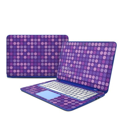 HP Stream 13in Skin - Big Dots Purple