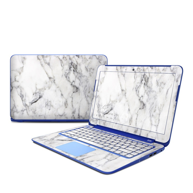 Hp Stream 13in Skin White Marble By Marble Collection