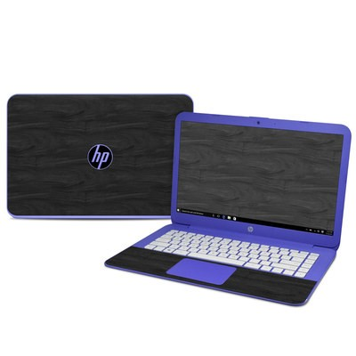 HP Stream 14in Skin - Black Woodgrain