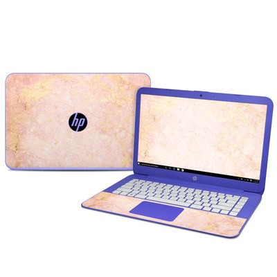 HP Stream 14in Skin - Rose Gold Marble