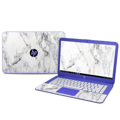Hp Stream 14in Skin White Marble By Marble Collection Decalgirl