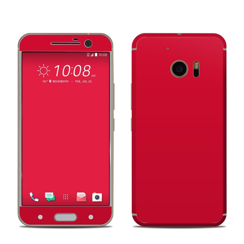 htc 10 skin solid state red by solid colors decalgirl. Black Bedroom Furniture Sets. Home Design Ideas