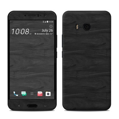 HTC U11 Skin - Black Woodgrain