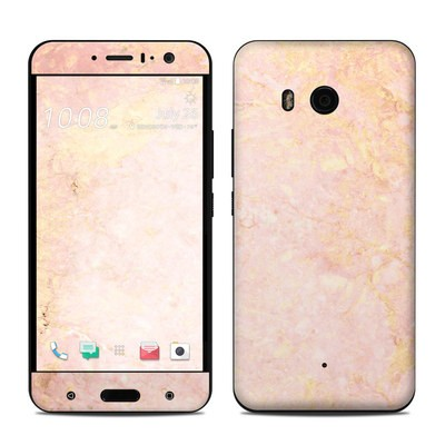 HTC U11 Skin - Rose Gold Marble