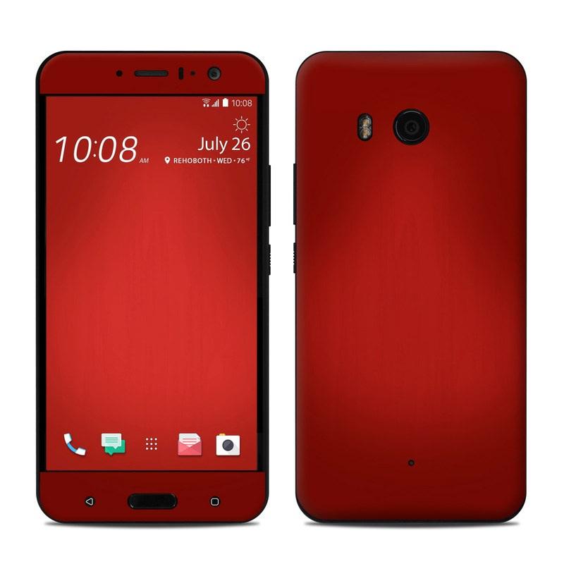 HTC U11 Skin - Red Burst by DecalGirl Collective