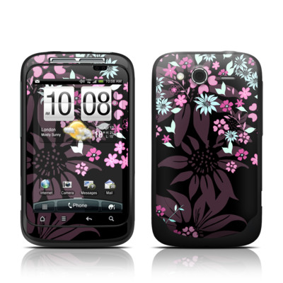 HTC Wildfire S Skin - Dark Flowers