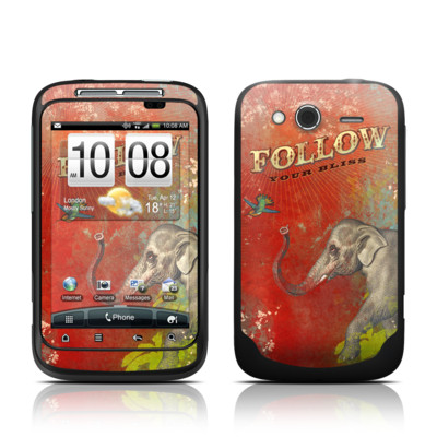 HTC Wildfire S Skin - Follow Your Bliss