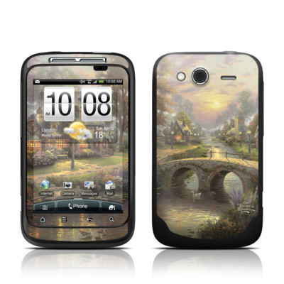 HTC Wildfire S Skin - Sunset On Lamplight Lane