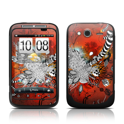 HTC Wildfire S Skin - Wild Lilly