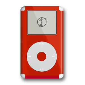 iPod Skin (4G) - Solid Red