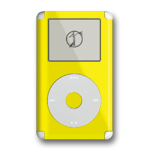 iPod Skin (4G) - Solid Yellow