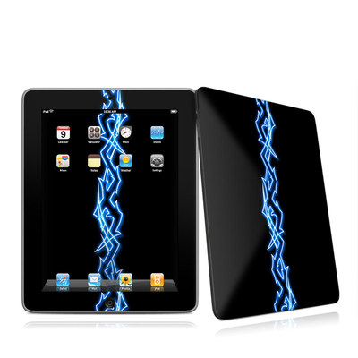 iPad Skin - Neon Blue Barbs
